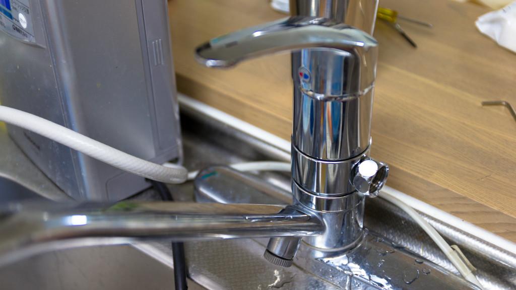 分水栓を挟む形で完了
