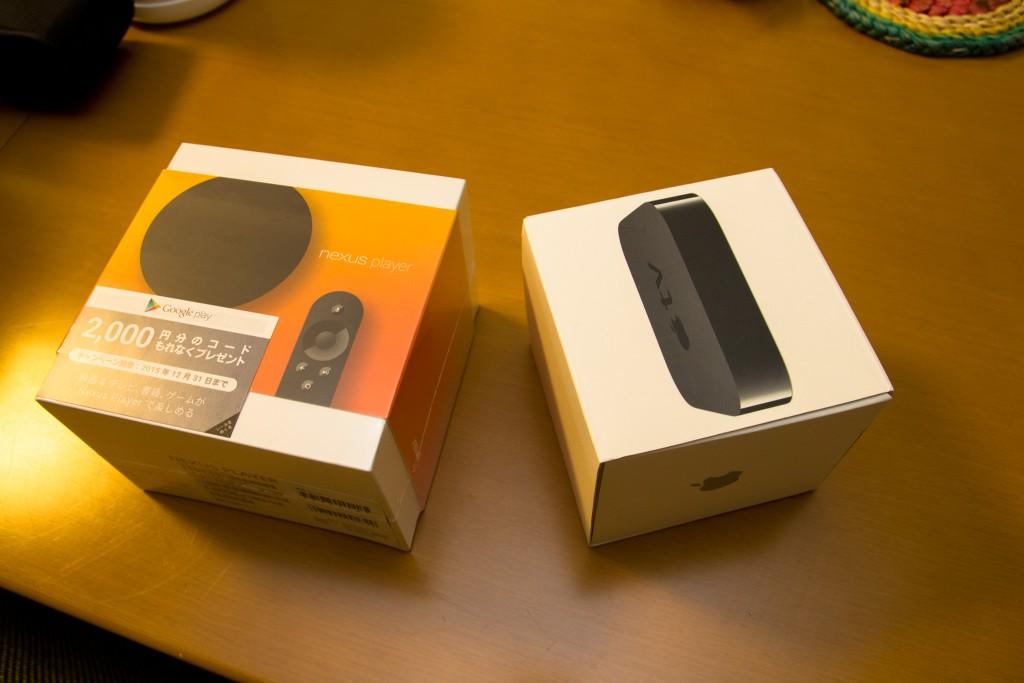 AppleTVより少し大きい箱