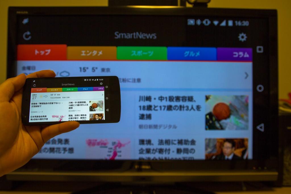 テレビとは横画面の相性が良い