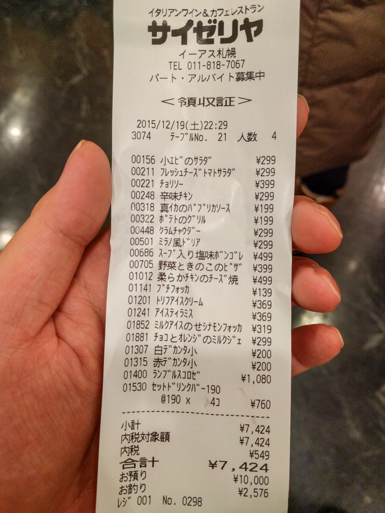 合計7,424円